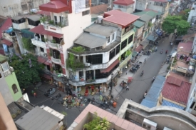 View from the hotel in Hanoi