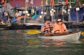Kajak tour in Halong Bay