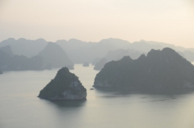 view from the hills on Halong bay
