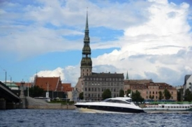 Riga from a boat view