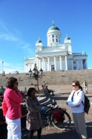 Helsinki cathedral  with friends