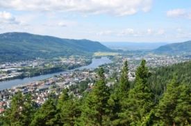 Drammen, from the hills