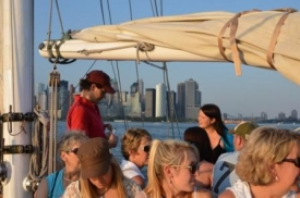 Sunset cruise , New York harbour II