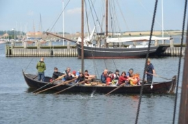 sailing and rowing at Viking Ship Museum, Roskilde Danmark