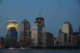 The new World trade center, half done; New York