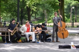 Jazz band Central park, New York