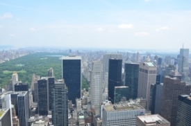 View from Rockefeller Center towards Central Park
